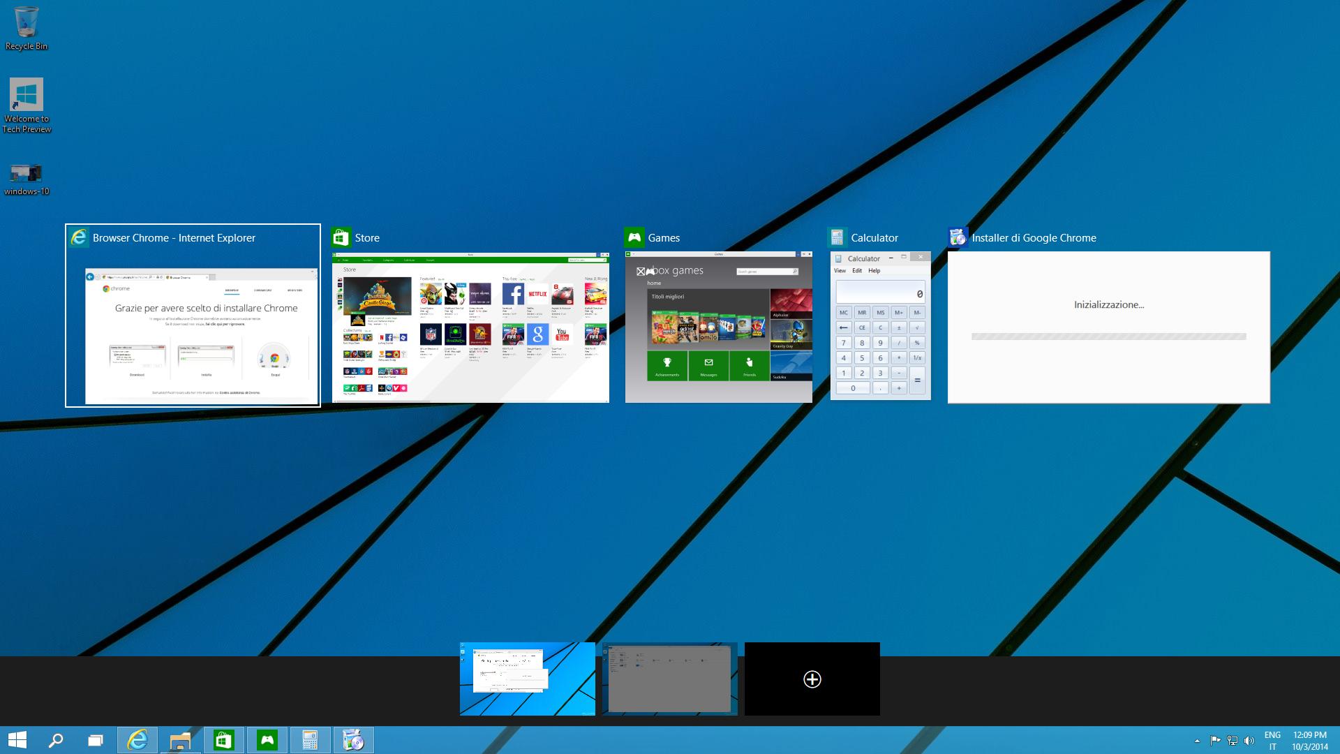 Multi Desktop di Windows 10